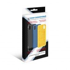 Силиконовый чехол Soft-touch с микрофиброй DF для Samsung Galaxy A30s Желтый