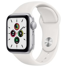 Умные часы Apple Watch SE 40mm Silver Aluminum Case with White Sport Band