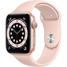 Умные часы Apple Watch S6 40mm Gold Aluminum Case with Pink Sand Sport Band