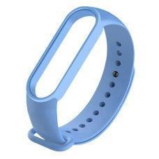 Браслет-ремешок силиконовый для Xiaomi Mi Band 5 Голубой
