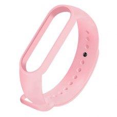 Браслет-ремешок силиконовый для Xiaomi Mi Band 5 Розовый