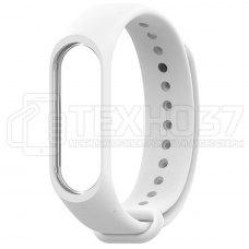 Силиконовый браслет для Xiaomi Mi Band 3 White